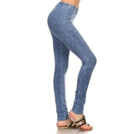 MINERAL WASH LEGGINGS LT.DENIM