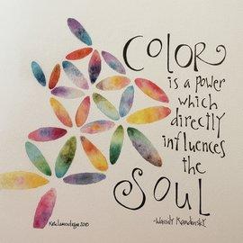ART PRINT - COLOR INFLUENCES THE SOUL