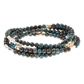 SCOUT CURATED WEARS SCOUT STONE WRAP- EMPOWERMENT blue sky jasper