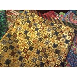 One Of A Kind Handmade Item Useful Little Bag - GOLD MOSAIC
