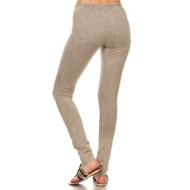 MINERAL WASH LEGGINGS STONE