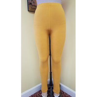 One Size Solid Mustard Leggings