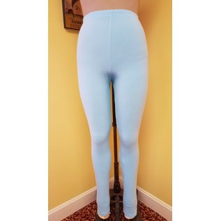 One Size Solid Sky Blue Leggings