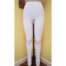 One Size Solid White Leggings