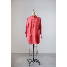 Lola Linen Tunic in Red