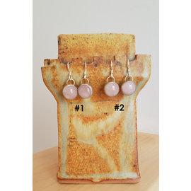 Seismic Silver Rose Quartz Candies Earrings by Seismic Silver