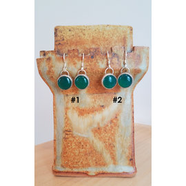 Seismic Silver Green Onyx Candies Earrings by Seismic Silver