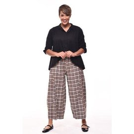 SALE Tulip VIVIAN Pant BROWN FLANNEL PLAID