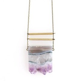 CRAFTS & LOVE AMETHYST NECKLACE