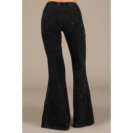 MINERAL WASH BELL BOTTOM Black SMALL