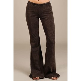 MINERAL WASH BELL BOTTOM Brown SMALL