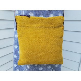 RUSTIC LITTLE BAG BY KATE -  MUSTARD WITH ORANGE BOHO
