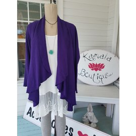 SALE- DRAPED WAFFLE CARDIGAN- small only