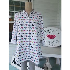 SALE!! TULIP Scottie Dogs Shirt - SMALL