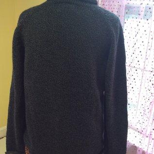 ROLL NECK SWEATER HEATHER BLACK - Medium