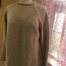 ROLL NECK SWEATER Oatmeal LARGE