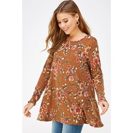 TOFFEE FLORAL TUNIC