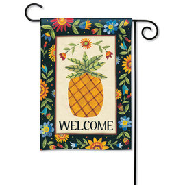 STUDIO M GARDEN FLAG - FLORAL PINEAPPLE
