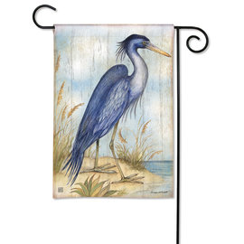 STUDIO M GARDEN FLAG - LOVE THE VIEW HERON