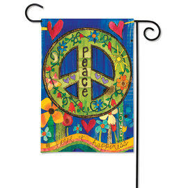 STUDIO M GARDEN FLAG - PEACE EVERYWHERE