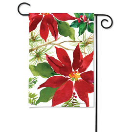 STUDIO M GARDEN FLAG - PRETTY POINTSETTIA