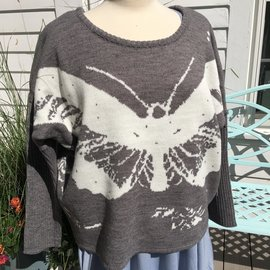 BUTTERFLY DOLMAN SLEEVE SWEATER