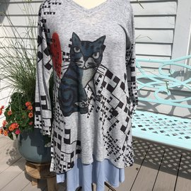 INOAH KITTY LOVE TUNIC