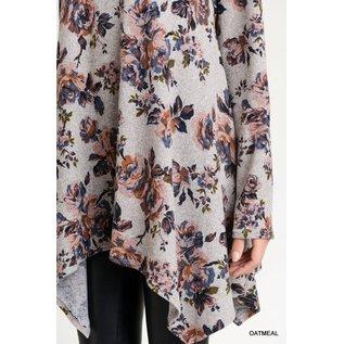 Dove Grey Flower Tunic