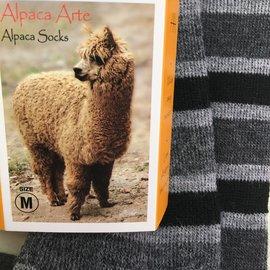 ALPACA BLACK STRIPE SOCKS