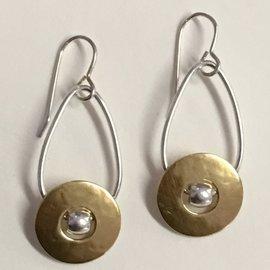 MARJORIE BAER Circle Disc Drop Earrings
