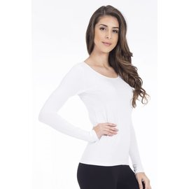 MODAL LONG SLEEVE TOP WHITE