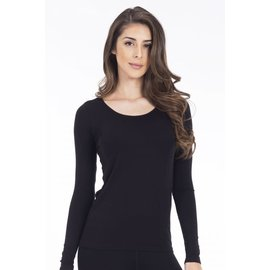 MODAL LONG SLEEVE TOP BLACK