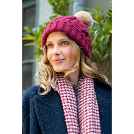 POWDER HELENA SCARF - CRANBERRY