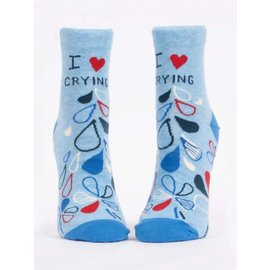 BLUE Q I HEART CRYING ANKLE SOCK