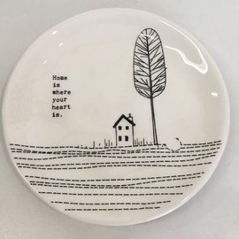 CERAMIC DISH HOME IS WHERE