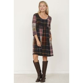 WINDOW PANE PLAID  DRESS