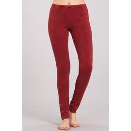 MINERAL WASH LEGGINGS BURNT CLAY