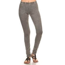 MINERAL WASH LEGGINGS TAUPE GREY