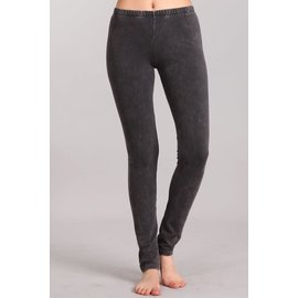 MINERAL WASH LEGGINGS DARK ASH GRAY
