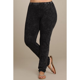 PLUS MINERAL WASH LEGGINGS BLACK