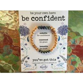 SOULKU Be Confident Bracelet Sodalite