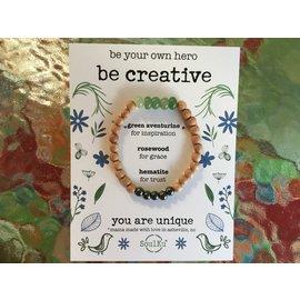 Be Creative Bracelet Green Aventurine