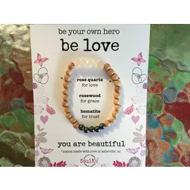 Be Love Bracelet Rose Quartz