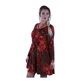 SACRED THREADS BRUSHED TUNIC  VIBRANT RED PRINT