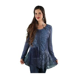 SACRED THREADS BLUES LACE PATCHWORK TUNIC