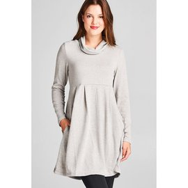 SOFT GREY COWL TUNIC