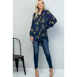 SALE BEE BLOUSE- SMALL ONLY