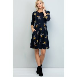 SALE!! BEES TUNIC / DRESS  SMALL