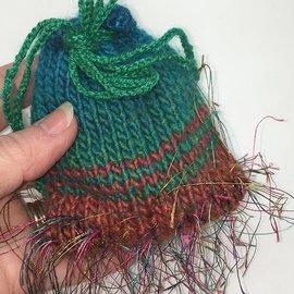 KAMALA DESIGNS Kate's Tiny Handknit Pouch #2