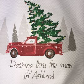 DASHING THROUGH THE SNOW ASHLAND TOWEL